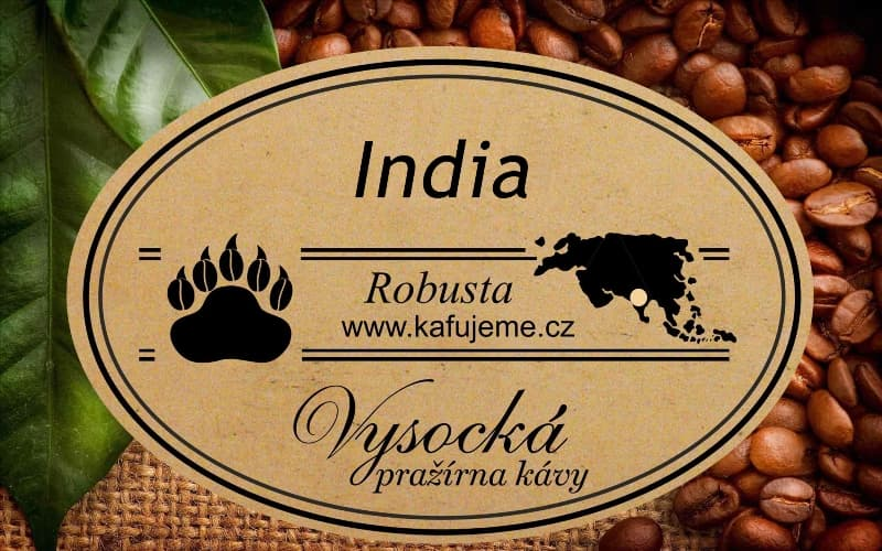 Zrnková káva Robusta India Kapi Royal
